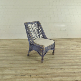 17474 VAN THIEL & CO. Armchair Blue Cream White