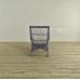 17474 VAN THIEL & CO. Sessel Blau-Cremeweiß