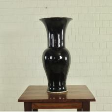 17495 Ralph Lauren Vase Schwarz Ø 0,35 m