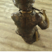 17496 Skulptur Junge mit Blockflöte Bronze 1,12 m