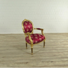 17500 Barockstuhl Rot-Gold