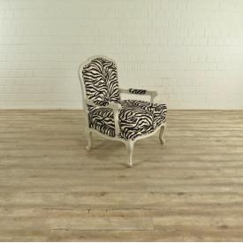 17526 Armchair Louis-seize style zebra look