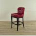 17528E Chesterfield Barhocker Barsessel Leder Rot