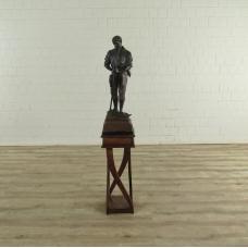 Skulptur Dekoration Bauer Bronze 1,46 m