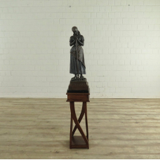 17577 Skulptur Dekoration Bäuerin Bronze 1,46 m
