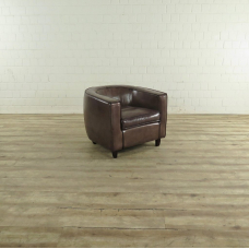 Lounge Chair Leather Brown 0.76 m - 17582