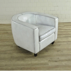 Loungesessel Leder Weiß 0,76 m