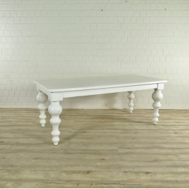 Dining Table Oak Country Style 2,00 m White - 17601