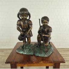 Wasserspeier Kinder Bronze 0,70 m