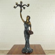 Kerzenständer Frau Bronze 1,06 m