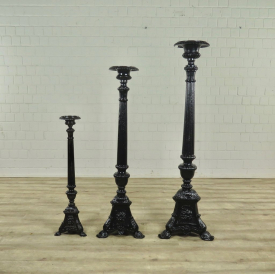 Candle Stands Cast Iron Antique  - 17689