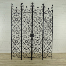 Entrance door Double Cast Iron Antique 1,89 m - 17697