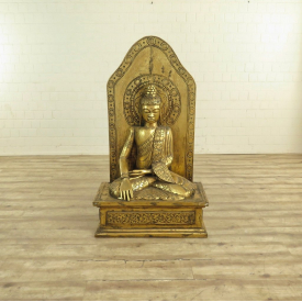 Dekoration Buddha Gold Massivholz 1,50 m