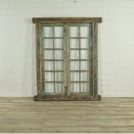 Window Frame Glass Biedermeier 1840 - Teak 17723