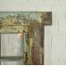 Fenster mit Rahmen Biedermeier 1840 Teakholz