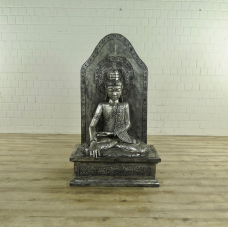 Dekoration Buddha Silber Massivholz 1,50 m