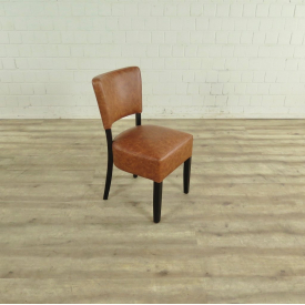 Dining Chair PU Leather - Brown - 17739