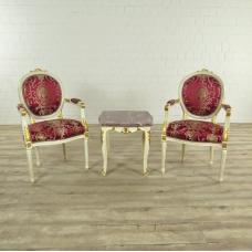 Set Barockstühle mit Tisch Barockstil