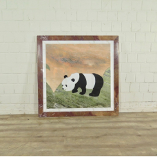Marmorplatte Tischplatte Pandabär 1,00 m