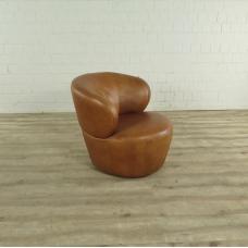 Loungesessel Leder Rot-Braun