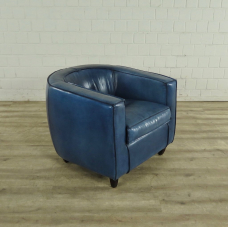 Lounge Chair Leather Blue 0.80 m - 17753