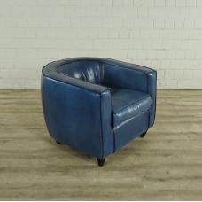 Loungesessel Leder Blau 0,80 m