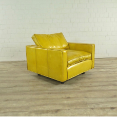 Armchair Leather Yellow 0.95 m - 17755