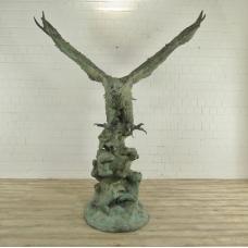 Wasserspeier Adler Bronze 2,26 m