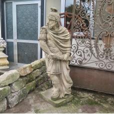 Skulptur griechischer Krieger Sandstein 1,90 m