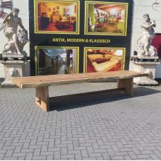 Tisch Esstisch Teakholz Baumstamm 4,52 m x 1,12 m