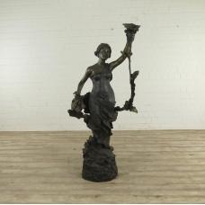 Wasserspeier Frau Bronze 1,82 m