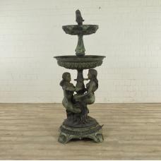 Brunnen Wasserspeier Meerjungfrauen Bronze 1,80 m