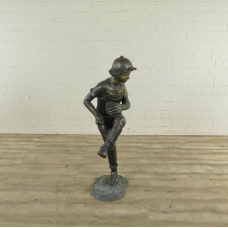 Skulptur Dekoration Baseball Pitcher Bronze 1,30 m