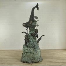 Wasserspeier Meerjungfrauen Bronze 2,68 m