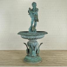 Wasserspeier Brunnen Junge Bronze Ø 1,10 m