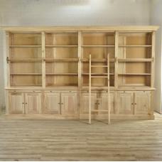 Bibliotheksschrank Buche Natur 4,02 m