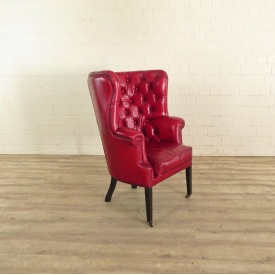 Chesterfield Sessel Rot