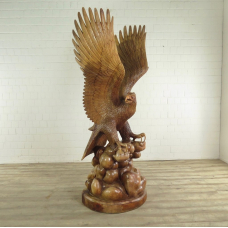 Eagle Sculpture Teak - 17899E