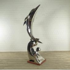 Skulptur Statue Delphin 2,33 m
