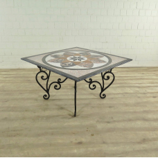 Garden Table Marble Top 1m x 1m - 17923E