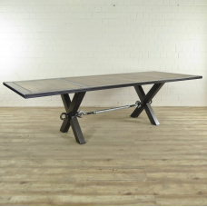 Dining Table Industrial Design Oak - 17924E