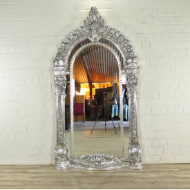 Wall Mirror Baroque XL Silver - 17925E