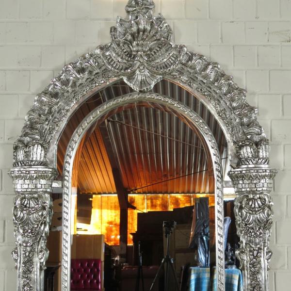 spiegel wandspiegel barock silber nostalgiepalast. Black Bedroom Furniture Sets. Home Design Ideas