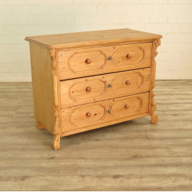 Chest of drawers Louis Philippe 1860 Pine wood