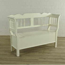 Chest Bench Old White 1,40 m - 18088