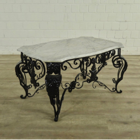 Garden Table Marble Cast Iron 0,85 m - 18109