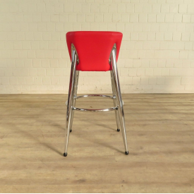 Barstool Red PU leather - 18164