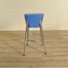 Barstool Blue PU leather - 18165