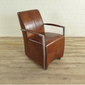 Dining Chair Industrial Design Leather - 18168
