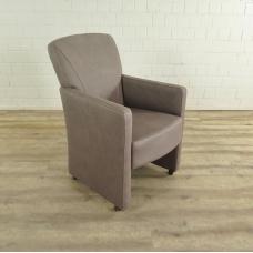 Stuhl / Sessel auf Rollen Taupe